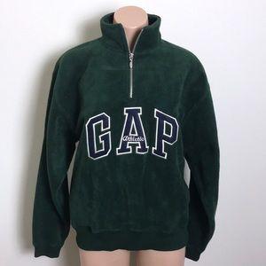 GAP Green Quarter Zip Fleece Pullover Sweatshirt